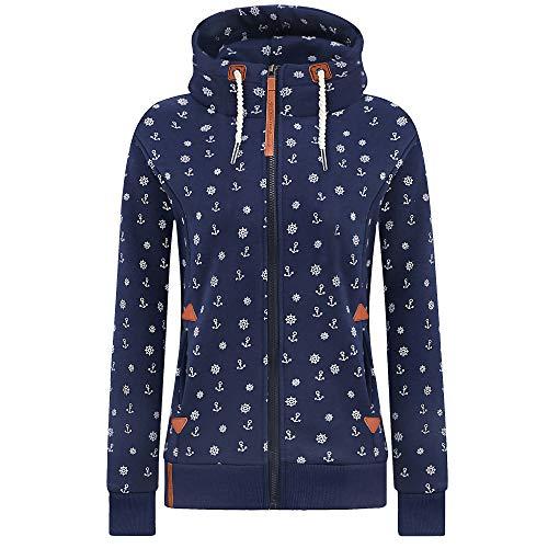 Newbestyle Jacke Damen Sweatjacke Kapuzenpullover Oberteile Hoodie Sweatshirtjacke Pullover mit Kapuze