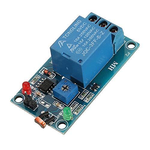 LICHONGUI Sensor de Resistencia fotosensible con módulo de relé 5V Interruptor de Control óptico Interruptor de detección de luz