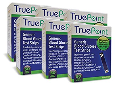 True Point Generic Test Strips 300 Count for Use with One Touch Ultra, Ultra 2 and Ultra Mini Meter. (Meter NOT Included, Test Strips ONLY) from True Point Generic Test Strips
