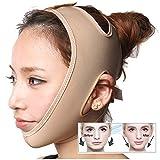 Zueyen 2 piezas Correa adelgazante facial, máscara adelgazante en forma de V, vendaje de estiramiento facial sin dolor para eliminar la flacidez de la piel Lifting Reafirmante antiarrugas