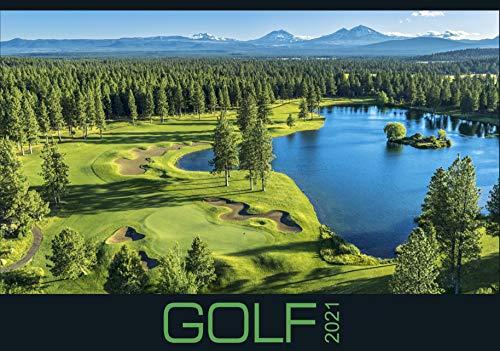 Golf 2021 - Bild-Kalender 48,5x34 cm - internationaler Golfkalender - Sport - Wand-Kalender - Alpha Edition