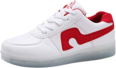 jin&Co Fashion Walking Shoes Women's Flats Anti Slip USB Charging LED Light Casual Glowing Shoes Sneakers