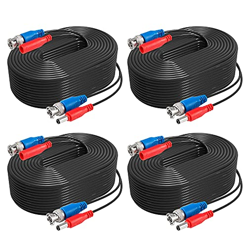 ANNKE 4 Pack 30M/100 Feet BNC Video Power Cable Security Camera Cable for...