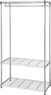 アイリスオーヤマ メタルラック ワードローブ 3段 ポール径25mm 幅91×奥行46×高さ178.5cm メタルシェルフ メタルシェルフ クロムメッキ SEW-913E