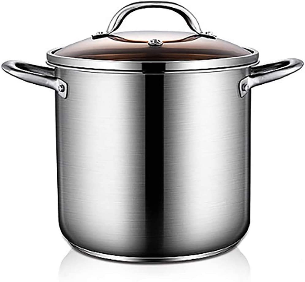 Stockpot Year-end gift Large Deep Stainless Steel Pot Stock shopping Induction Casserol