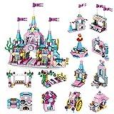 TRCS Castillo modular para casa arquitectura, ladrillos de construcción, 12 en 1, castillo de ciudad deformable, visión de carreteras, edificios, 566 bloques de sujeción, compatible con Lego