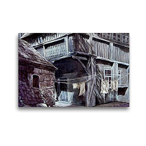 CALVENDO Premium Textil-Leinwand 45 x 30 cm Quer-Format Alter Hof am Reußenplatz, Leinwanddruck von Doris Seifert