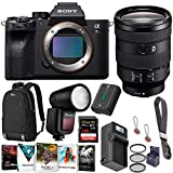Sony a7R IV Mirrorless Camera - with Sony FE 24-105mm f/4 G OSS E-Mount - Bundle with Flashpoint Zoom Li-on X TTL Speedlight, 128GB SDXC Card, Lowe Pro BP 150 Backpack, Peak Design Strap, and More