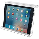 KHM Made in The USA Polycarbonate Acrylic Universal Treadmill Book Holder iPad and Tablet Magazine Rack Bookholder, EReader Book Holder Reading Rack, Compact iPad and Tablet, Kindle, Nook, Magazine