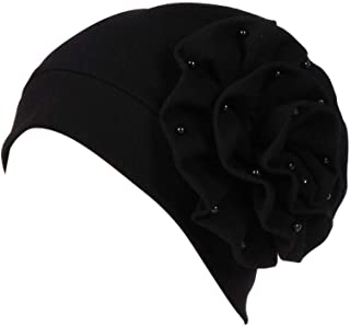Womens Turbans Beading India Hat Muslim Ruffle Cancer Chemo Beanie Scarf Wrap Cap