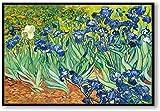 DSFJK Rompecabezas de Flores de Iris Van Gogh, Artista Famoso, Arte, 1000 Piezas, Rompecabezas de Madera para Adultos, niños, Aprendizaje, Dormitorio, decoración, Juguetes