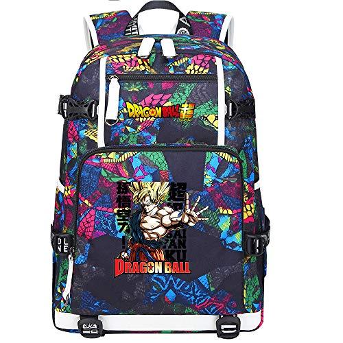 ZZGOO-LL Dragon Ball Son Goku/Vegeta IV/Torankusu Zaini anime Fashion Travel Daypack Casual business College USB Unisex-E