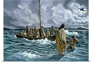 jesus walking on water print