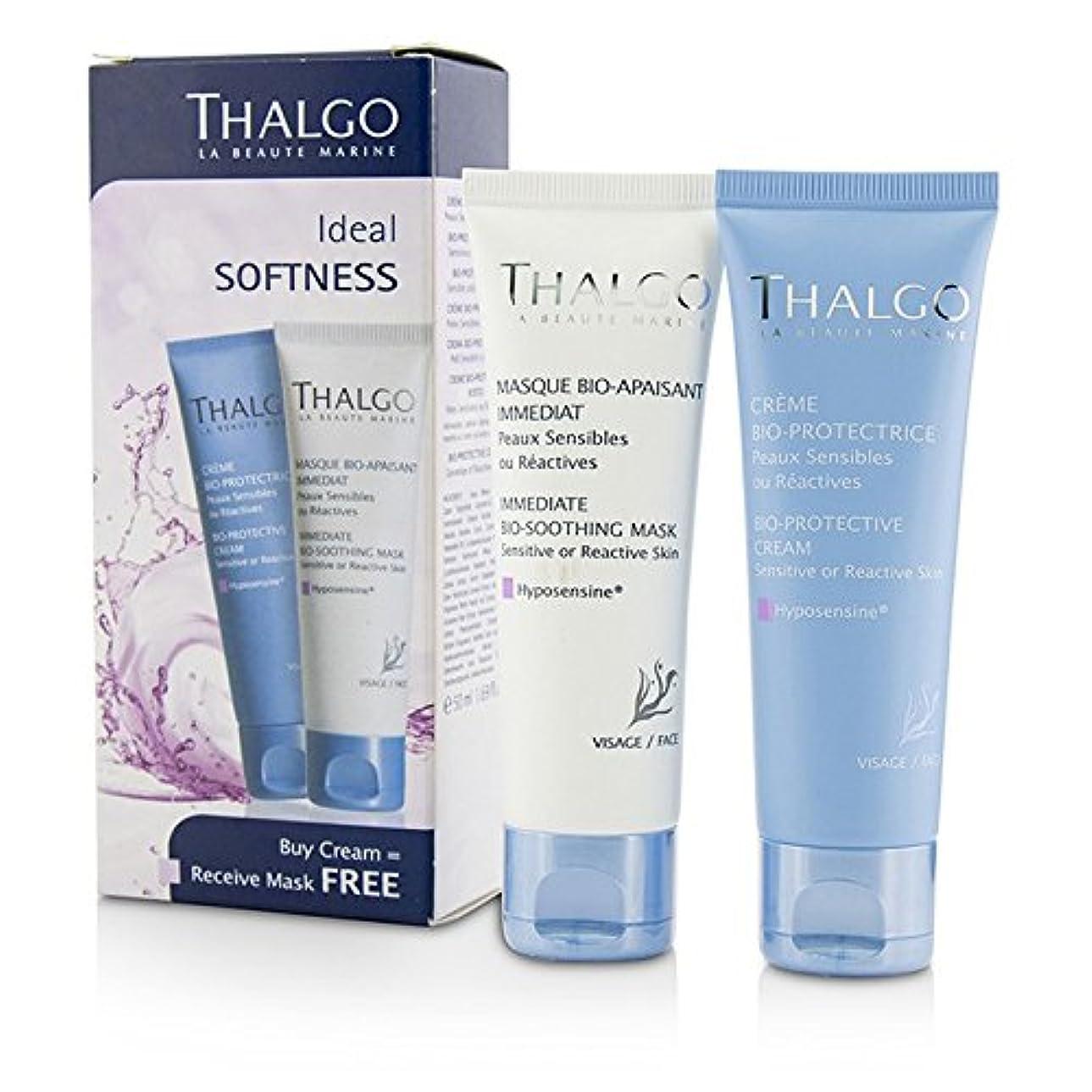 汚染されたクーポン登るタルゴ Ideal Softness Kit: Bio-Protective Cream 50ml + Immediate Bio-Soothing Mask 50ml 2pcs並行輸入品