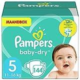Pampers Baby-Dry, Pannolini, Taglia 5( 11- 16kg), Confezione da 144 pezzi...