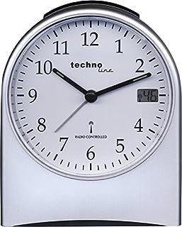 Technoline WT 765 - Reloj análogo de Jumbo Reloj Despertador con Pantalla de Segundos en la Pantalla LCD