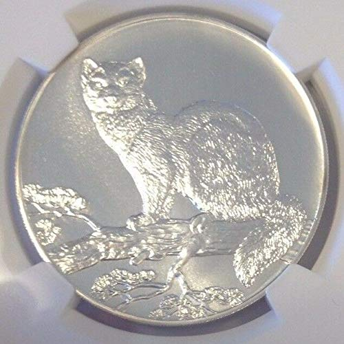1995 RU Russia L Silver Coin Sable coin Rouble shop Genuine Wildlife 3 M
