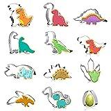 Cortadores de Galletas de Dinosaurio,12 Piezas Molde de Dinosaurio de Acero Inoxidable,Moldes de Dinosaurios para Pastel,para Fondant, Decoraciones de postres de pastelería