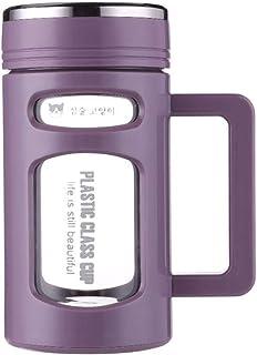 600ml Double Layer Glass Water Bottle Stainless Steel Tea Filter Tumbler snowvirtuosau