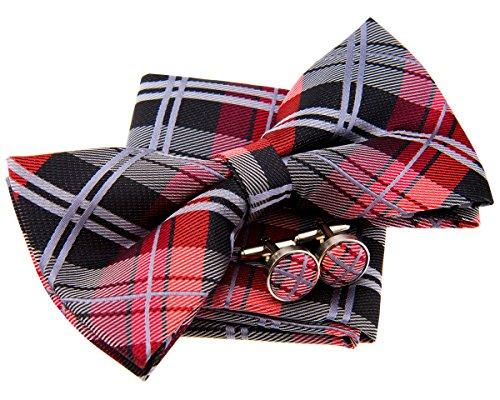 Retreez Elegante pajarita de cuadros escoceses tejida precortada (5 pu
