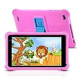 Tablet qunyiCO Android 10.0 GO, para niños, 7 Pulgadas 32GB Cámara WiFi 2GB RAM Pantalla táctil HD 1024 * 600 Funda a Prueba de niños Control Parental Aprendizaje Google Certified Playstore (Rosado)