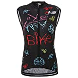 21Grams Maillot de Ciclismo Sin Mangas Chaleco de Bicicleta Camisetas Chaqueta de Ciclismo Transpirable MTB Deportes al Aire Libre para Mujeres Secado Rápido (M)