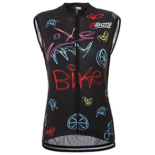 21Grams Fahrradtrikot für Damen, ärmellos, atmungsaktiv, für MTB Rad- und Outdoor-Sport, schnelltrocknend, Damen, XXXL