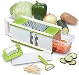 HOODIE Vegetable Slicer De Los Interruptores Multifunción Veggie para Ensalada Vegetariana, Ensalada De Frutas, Manual Domésticos De Cocina Cortador, Corte Rápido De Cebolla, Patata