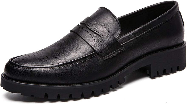 GLSHI Men's Business Dress shoes Fashion Brogue Wedding shoes Casual Comfortable Walking shoes Large Size
