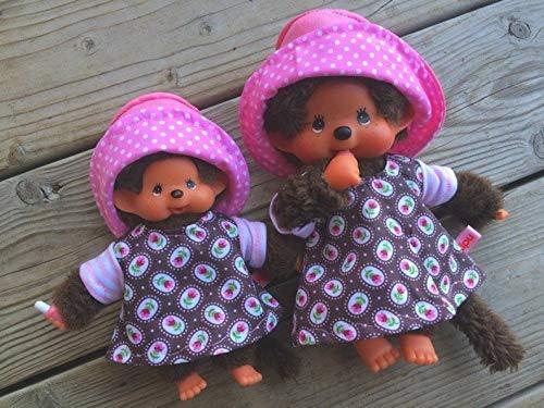 Puppenkleidung handmade passend für MONCHICHI Bebichichi mini Gr. 15 - 16 cm ODER Gr. 20 cm Kleid + Hut Bekleidung Puppenkleidung millefleur Sommer Set Bärenmode Bärenkleidung