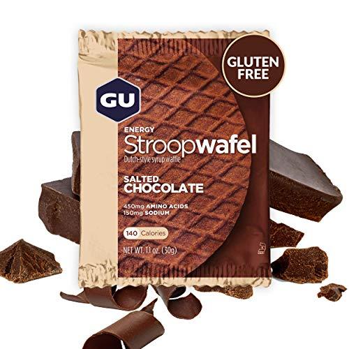 Gu Energy Stroopwafel, Gluten Free, Salted Chocolate Sports Nutrition Waffle, 16 Count