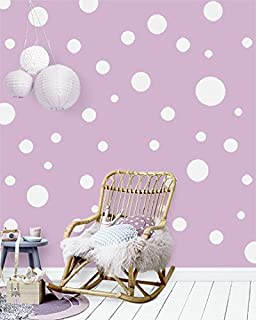 Create-A-Mural Polka Dot Wall Stickers, Wall Decor Stickers, Wall Dots, Vinyl Circle Room Dot Decals (White)