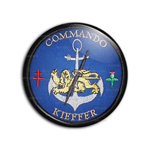 Badge 38mm Ecusson TDM Troupes de Marine Commando Kieffer Pins Bouton Epinglette