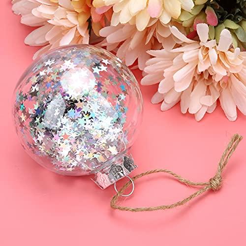 BOLORAMO 5 Piezas de Bolas de plástico, Colgante de árbol de Navidad, Bricolaje Elegante Retro para Banquete de Boda para árbol de Navidad(6CM)