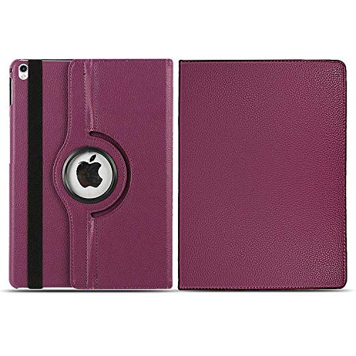Case For iPad 8, iPad 7 (10.2-Inch 2020/2019 Models) 360 Case Leather Wallet Flip Smart Folio Cover For iPad 10.2'' 8th /7 th Generation (Purple)