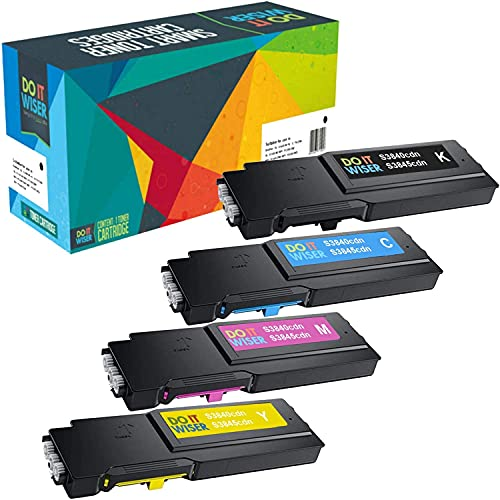 Do it Wiser Compatible Printer Toner Cartridge Replacement for Dell S3840cdn S3845cdn Extra High Yield (4-Pack)