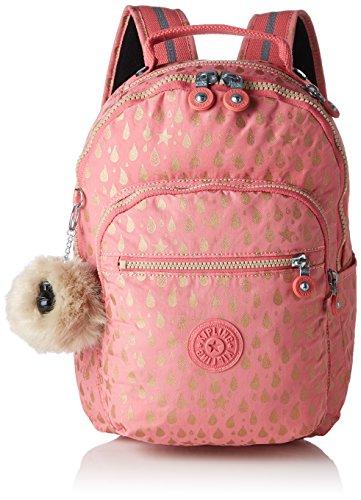 Kipling Seoul Go S Mochila infantil, 35 cm, 8 litros, Rosa (Pink Gold Drop)