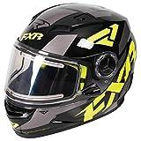 FXR Nitro Youth Core Helmet (Black/Hi Vis/Charcoal, Small)