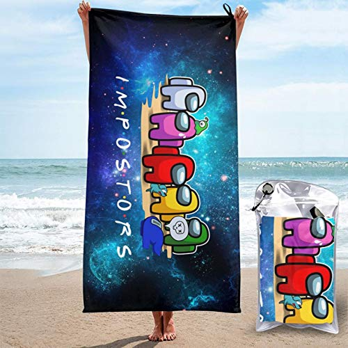 HFJFJSZ DIY Impostor 3D Design Outdoor Beach Towel Blanket Quick-Drying