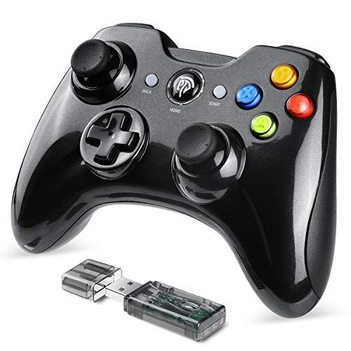 [Manette PC/PS3 Sans Fil] EasySMX 2.4G Manette de Jeu Rechargeable avec Double Vibrations, 8H d'Autonomie, pour PS3 /PC / Android Smartphone Tablette TV Box(Via OTG et Simulateur)