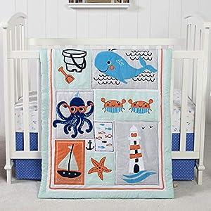 51jSDOaaafL._SS300_ Nautical Crib Bedding & Beach Crib Bedding Sets