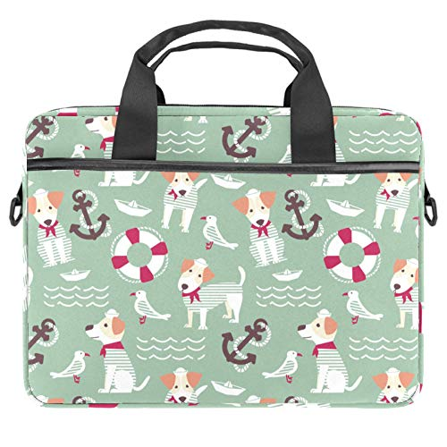 Laptop Bag Sailor Dog Bird Anchor Notebook Sleeve with Handle 13.4-14.5 inches Carrying Shoulder Bag Briefcase
