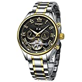 Aquaasian Analogue Men's Watch (Black Dial Gold &Silver Black Colored Strap)