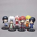 6 Piezas Anime Naruto Figura Juguete Sasuke Kakashi Sakura Gaara Itachi Obito Madara Killer Bee Mini...