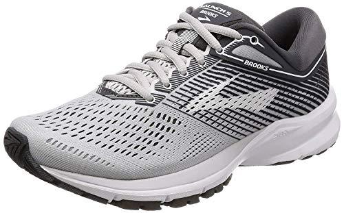 Brooks Launch 5 Women's Grey/Ebony/White Shoes 9M