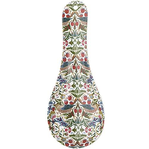 Grande melamina cucchiaio con il famoso Strawberry Thief 'design di William Morris