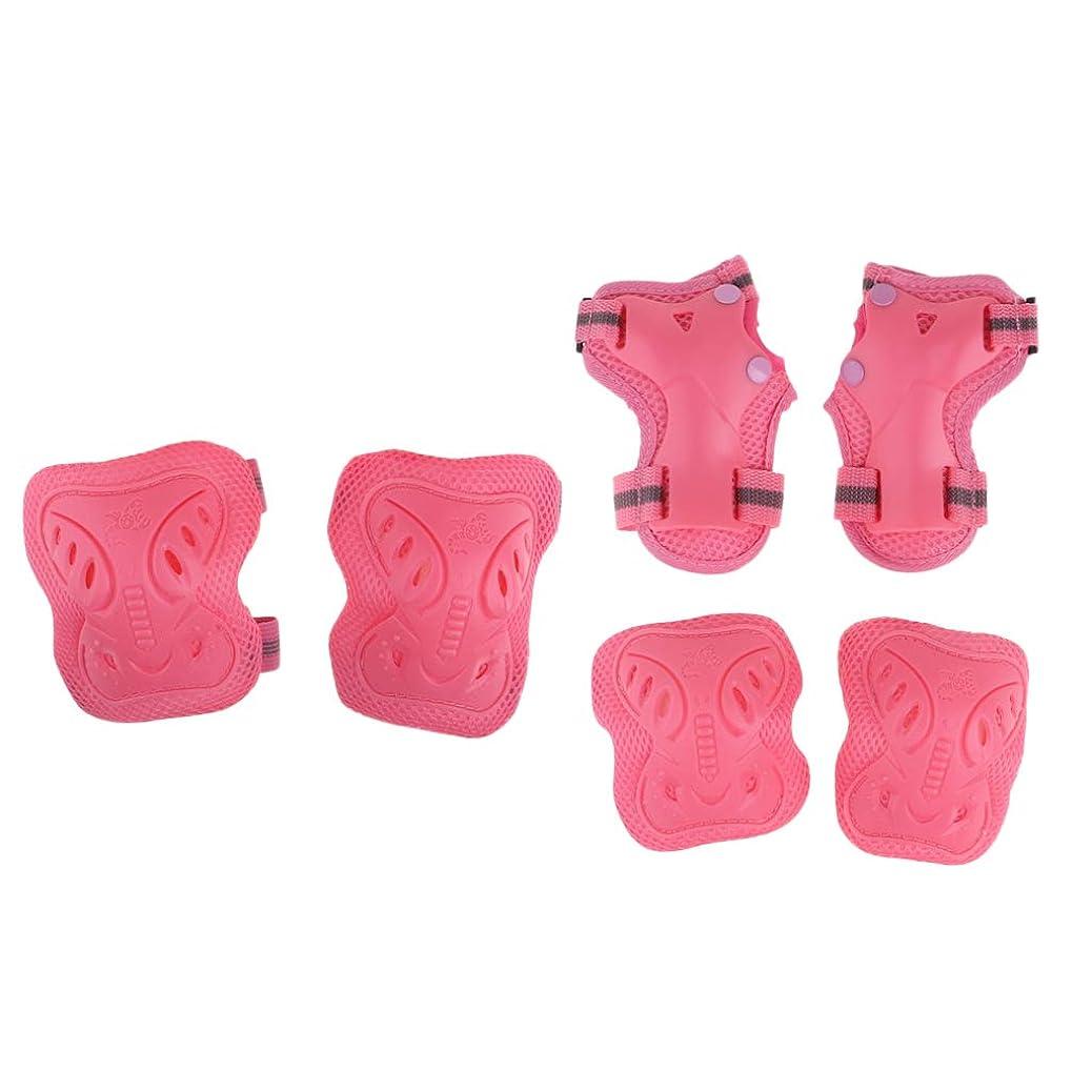 プロペラ反響する口径Baoblaze 6個セット 子供 膝/肘/手首サポーター 保護パッド キッズプロテクター 通気性 衝撃軽減 調整可能