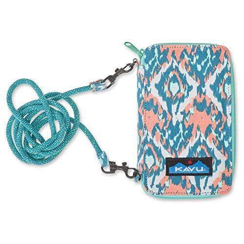 KAVU Go Time Bi-Fold Clutch Wallet with Crossbody Rope Strap - Beach Paint