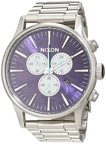 Nixon Unisex-Uhr Analog Quarz mit Edelstahlarmband – A386230