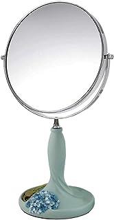 AINIYF Desktop Double-Sided HD Makeup Mirror Adjustable Vanity Mirror Portable Princess Vanity Mirror Beauty Salon Small Mirror (Color : A, Size : 36x19CM)